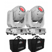 Chauvet Intimidator Spot 360 - White Double Pack With Carry Cases