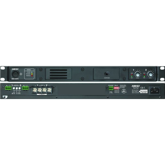 Ashly SRA-2075 - Convection-Cooled Stereo Power Amplifier