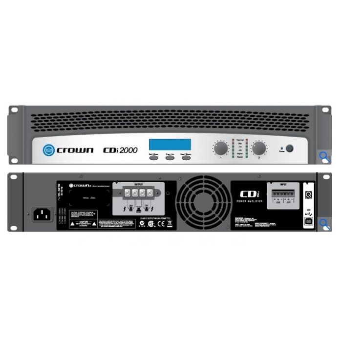 Crown CDI6000 1200W 2-Channel Solid-State Power Amplifier