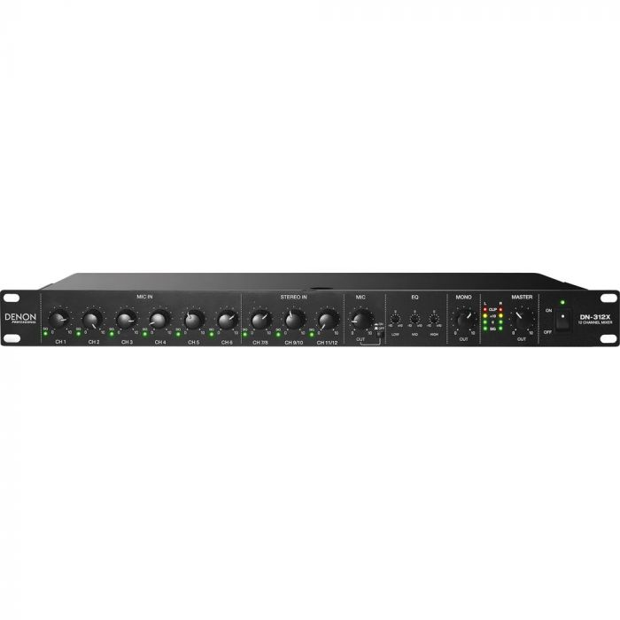 Denon DN-312X - 12 Channel Line Mixer with Priority
