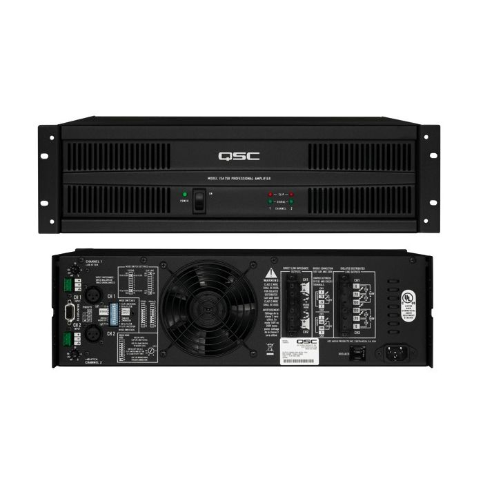 QSC ISA 300Ti 185W 70V ISA Series Stereo Power Amplifier