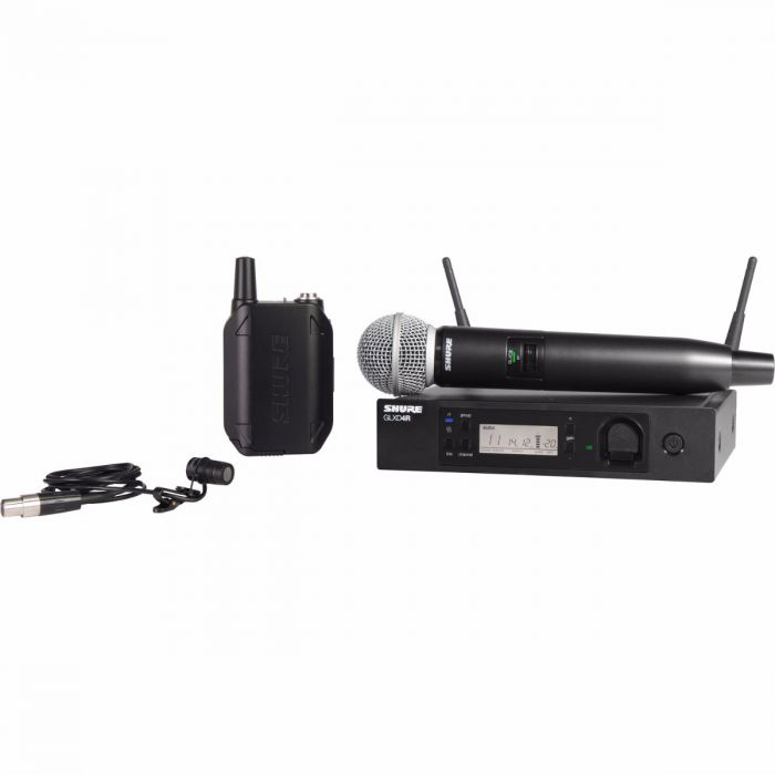 Shure GLXD124R/85 - Handheld and Lavalier Combo Wireless System